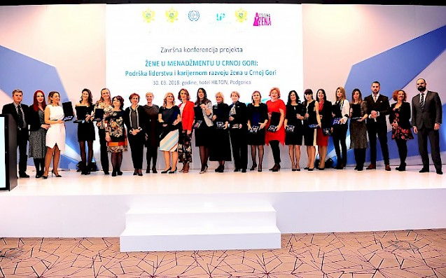 """THE BEST WOMEN MANAGERS in Montenegro"" awards and MEF plaques for contribution to economic empowerment of women"